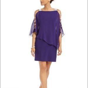Purple cocktail dress by MSK
